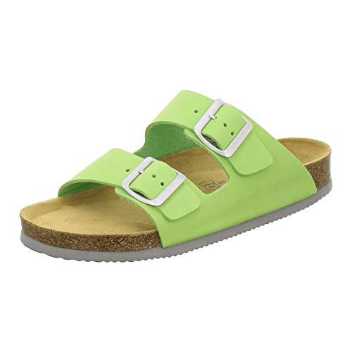 AFS-Schuhe 2100 | sportliche Damen-Pantoletten| praktische Arbeitsschuhe| hochwertiges, echtes Leder| verstellbare Bio-Pantoletten| bequeme Hausschuhe| auftrittsdämpfende Laufsohle| Made in Germany größe 36 EU