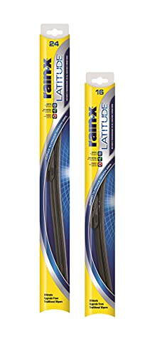 """Rain-X 810196 Latitude Water Repellency Wiper Blade Combo Pack 24"""" and 16"""""""