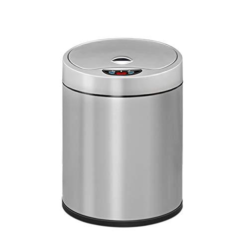 Inteligente bote de basura, Cubo de basura automático inductivo con la tapa cubo de basura de carga USB, silencioso y recargable, for los dormitorios, Negro 6L / 8L / 12L Contenedor de basura Papelera