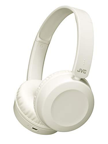 JVCHA-S48BT-WワイヤレスヘッドホンBluetooth対応/連続17時間再生/バスブースト機能搭載/ハンズフリー通話用マイク内蔵/フラット折りたたみ式/ホワイトHA-S48BT-W