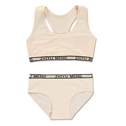 VIccoo BH-Set für Junge Mädchen, Trainings-BH-Set für Mädchen Teenie-Unterwäsche-Set Baumwollunterwäsche für Mädchen BH für Teenager Kinder-BHS Mädchen-Unterwäsche - Frische Farbe
