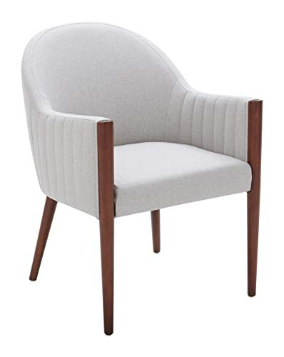 Amazon Brand – Rivet Contemporary Curved-Back Dining Chair, 35'H, Felt Gray