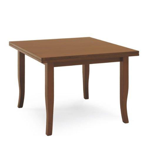 Sconosciuto Table Arte Povera 100 x 100 cm à livre extensible couleur noyer