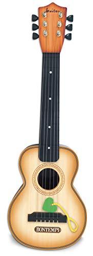 Bontempi 20 5510 Klassische-Gitarre mit 6 Metal-Saiten, Holz