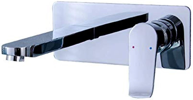 T-TLJW Schwarz Retro Wasserhahn Badezimmer Küche water-tap Waschtischarmatur an der Wand befestigtes heies und kaltes Wassermischer-Hahnbadezimmer über Gegenbassinhahn