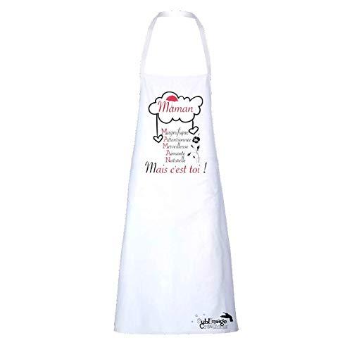Sublimagecreations Coffret de Cuisine :Tablier de Cuisine Maman, Gant et manique Maman....