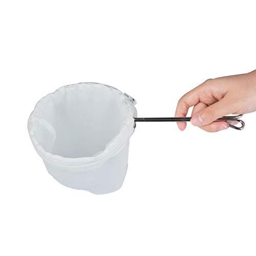 OFNMY Siebtuch Passiertuch Filtertücher Edelstahl Griffe Kaffee Tee Tuch Sieb Filter Sandsack(28 * 14cm)