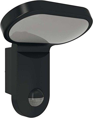 ESYLUX 4370623 LED-Leuchte 25W mit Bewegungsmelder, 140 Grad, 5000 K, Aluminiumdruckguss und Kunststoff, AOL 200LED 5 K, schwarz