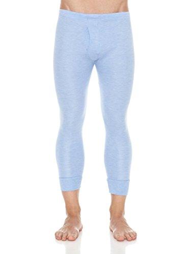 ABANDERADO Termal Fibra Invierno Calzón Largo Pantalones térmicos, Azul (Celes), L para Hombre