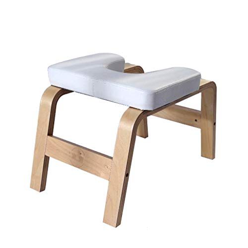 Buy Yoga Headstand Bench - Stand Yoga Chair Inversion Bench Headstander for Family, Gym - Birch Wood...