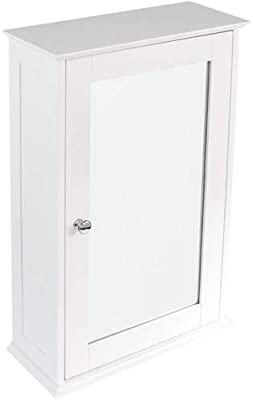 Home Discount mobiletto da Bagno Doppia Porta Montaggio Parete scaffale Bianco