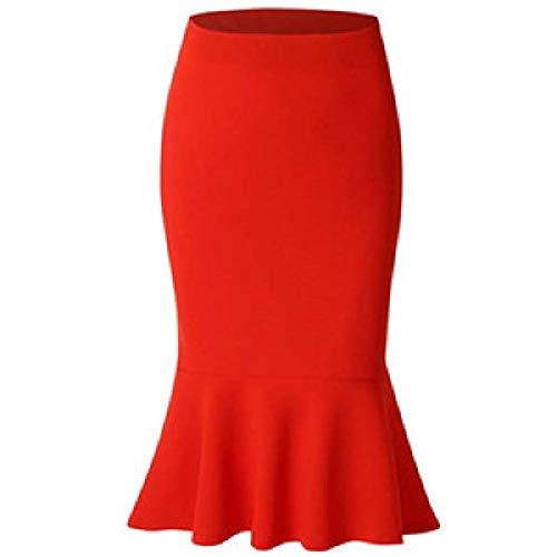Faldas de Mujer Otoño Invierno Fishtail Solid Bag Faldas de Cadera Nuevas Mujeres Cintura Alta Bolso de Sirena Faldas de Cadera
