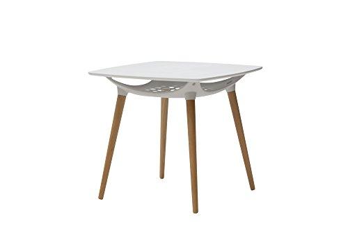 White Loft, Table carré, Bois, Blanc, 80 x 80 x 73 cm