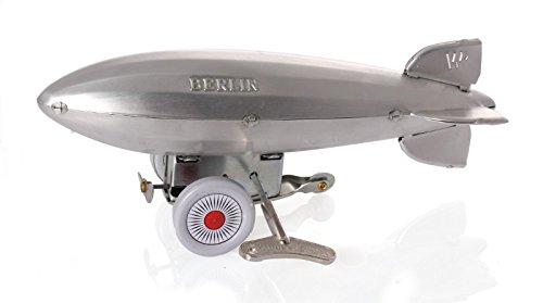 Zeppelin mit Aufziehwerk, Aluminium, 20 cm - Nostalgisches Blechmodell
