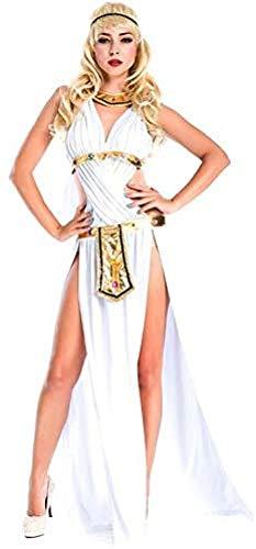 RL Lencería Erótica Ropa Erótica Falda Larga De La Diosa Blanca Vestido De Actuación Escénica Ropa De rol,OneSize