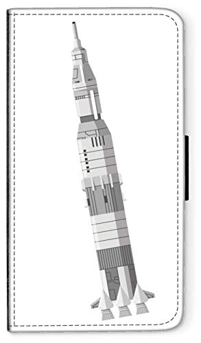 blitzversand Flip Case Sputnik Laika Russland kompatibel für iPhone 5 5s Saturn 3 Rackete Handy Hülle Leder Tasche Klapphülle Brieftasche Etui rund um Schutz Wallet M9