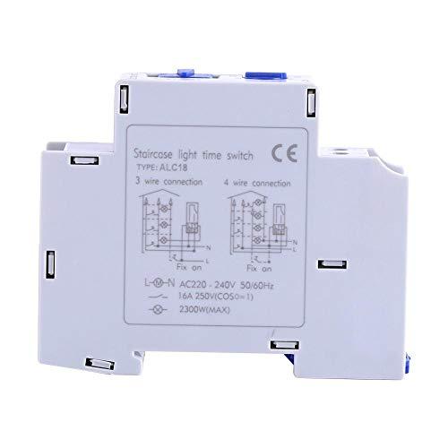 Temporizador programable-AC 220-240V mecánica del aparato electrodoméstico Tiempo del relé de Escalera interruptor electrónico del Corredor del temporizador