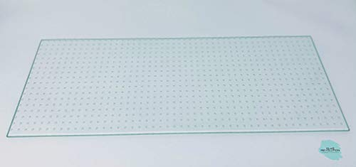 Kühlschrank Einlegeboden   Glasplatte   Gemüsefach/Ersatzglas - Ornamentglas Master Carré - 4 mm Stärke (47,0 cm x 26,5 cm)