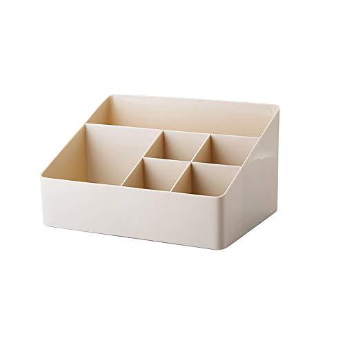 Totovy Moderne chinesische Haushalt Qualitäts-PP-Material Multifunktionsschüler Desktop Storage Box 6 Grid Cosmetic Finishing Box Einfaches Briefpapier Sundries Aufbewahrungsbehälter-Gadgets Bürobedar