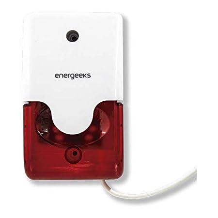 Sirena estroboscópica Adicional Compatible con la Alarma WiFi Energeeks