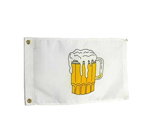 12x18 Beer Time Boat Flag, All Weather Nylon for Outdoor Use, Made in USA