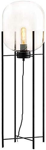 BESTPRVA Lámpara de pie moderna Sala de estar de pie luminarias LED dormitorio lámpara de cabecera Moda Planta de cristal lámpara de mesa Permanente (Color : A)