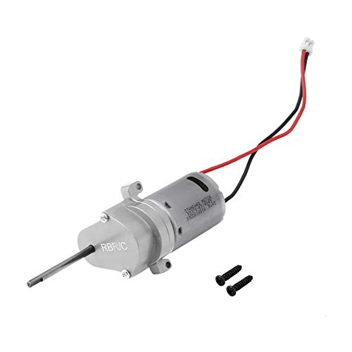 Facibom for WPL D12 1/10 RC Car Gearbox Upgrade Parts RC Car Transmission Gearbox with 370 Brushed Motor Accessories,Silver