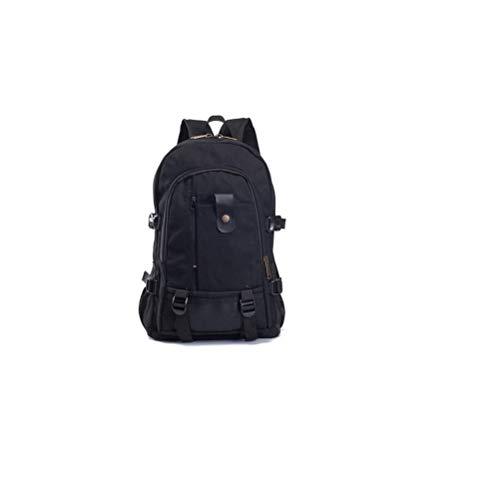 NingVong Herren Rucksack Casual Reiserucksack Canvas Student Bag A5