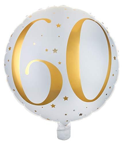 Santex 6236-60 ballon van aluminium, 35 cm, 60 jaar