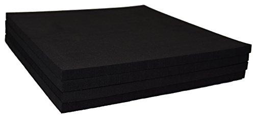XCEL Rubber Foam Non Slip Furniture Pads, Craft Foam, Cushion Foam, Acoustic Foam Studio Squares 9 in x 9 in x 3/8 in (4 Pack)