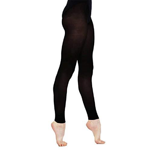 Silky Erwachsene Damen Tanz Strumpfhose Fußlos - Schwarz, Medium