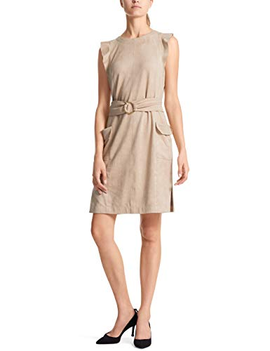 Marc Cain Collections Damen LC 21.19 J20 Kleid, Beige (Sisal 617), 44