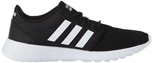 adidas Women's Cloudfoam QT Racer Sneaker, Black/White/Carbon, 9 M US 12