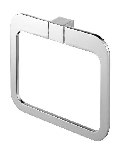 Bisk 02996 Futura Handtuchring 20 x 3 x 17,5 cm, Silber