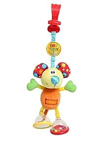 Playgro Juguete Colgante Ratón Clip Clop, Desde el Nacimiento, Dingly Dangly Mimsy, Naranja/Multicolor, 40144