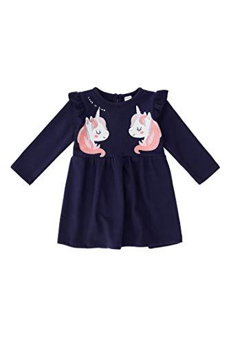 DeFacto Vestido de corte regular para bebé, ropa de bebé azul marino 6-9 Meses