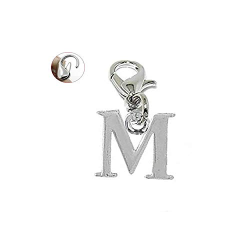 Sexy Sparkles Dangling Letters Clip on Pendant Charm for Bracelet or Necklace