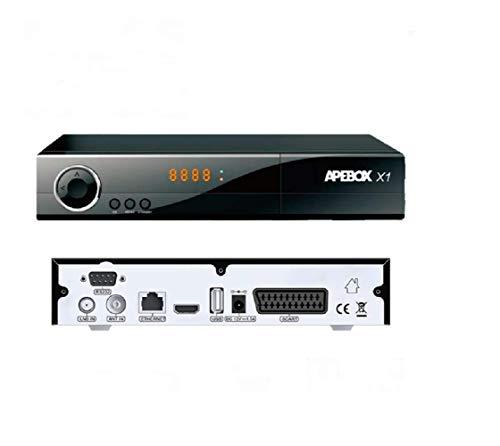 APEBOX X1 – Receptor Satélite Combo DVB-S2 + DVB-T2/C H.265