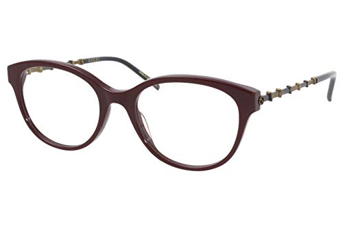Gucci Gucci-Logo GG0656O 004 Eyeglasses Burgundy/Gold/Black Optical Frame 53mm