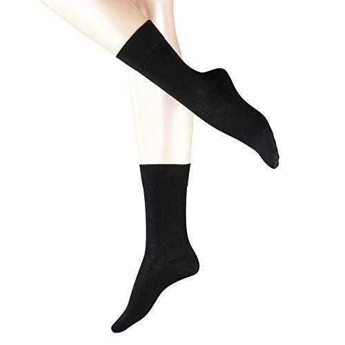Women's Merino Wool Dress Socks, Laides Autumn Winter Warm Classic Business Socks Breathable & Sweat-wicking Casual Lightweight Wool Socks for Women (3 Pairs-Black)