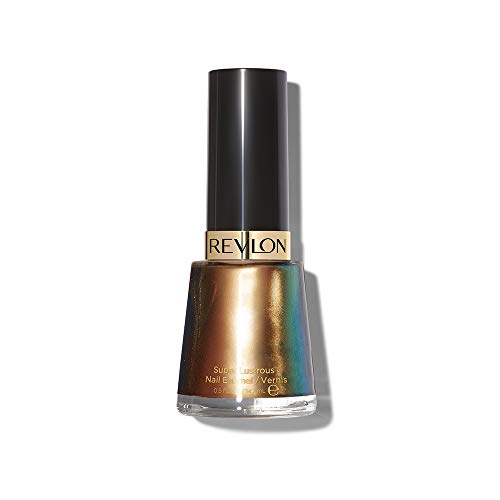Revlon Nail Enamel, Chip Resistant Nail Polish, Glossy Shine Finish, in Blue/Green, 933 Chameleon, 0.5 oz