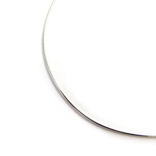 Les Trésors De Lily [M7289] - Silber halskette 'Omega' - 42 cm 1 mm (rhodium).