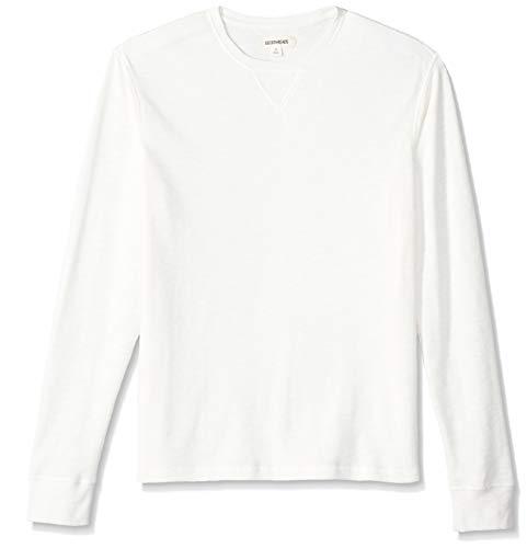 Marca Amazon - Goodthreads: camiseta térmica de manga larga con cuello redondo para hombre, Beige (ivory), US XS (EU XS)