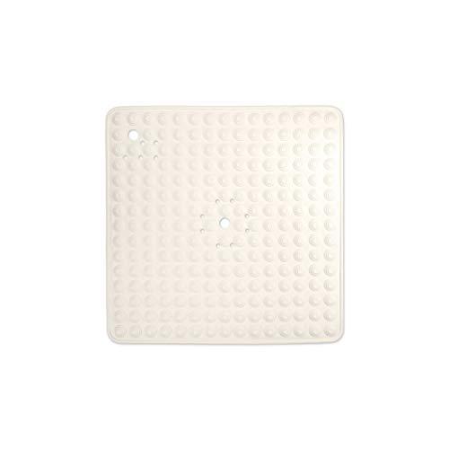 WohnDirect Duschmatte Creme/quadratisch: 60x60 cm • rutschfest & sehr robust • Antirutschmatte für Dusche oder Badewanne • waschbar bei 60°C