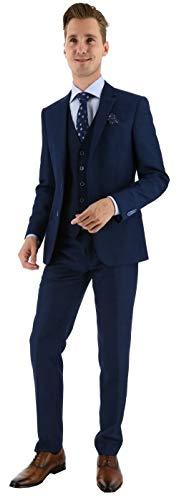 3-delig kostuum denim-look blauw
