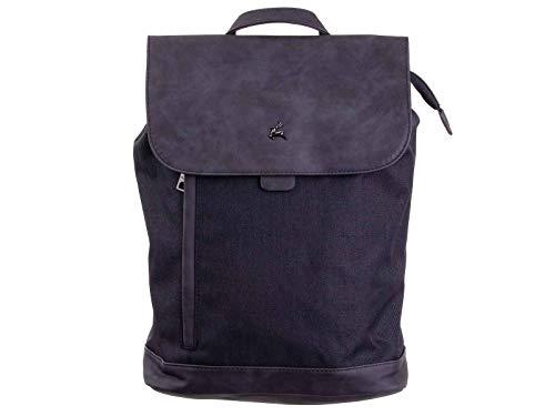 Prato Rucksack Daypack S816-F ca. 11 L, ca. 25,5 x 36 x 12 cm black/black