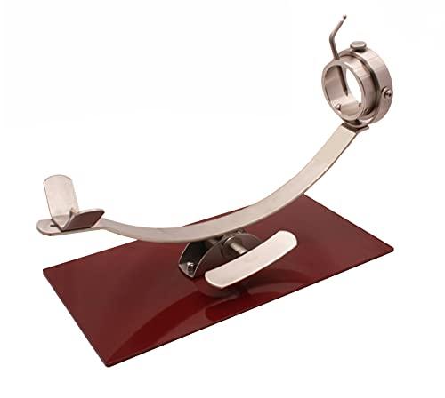 Soporte jamonero New Generation basculante y giratorio con herraje Inoxidable y base de acero color cerezo.