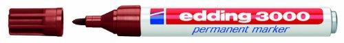 edding 3000-007 - Marcador permanente, 10 unidades, color marrón