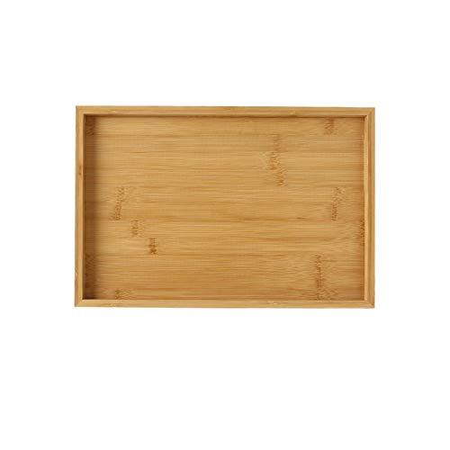 Bandeja para Servir Sirviendo a la bandeja de madera bandeja de bambú Gran cena for la bandeja bandejas bandeja de té bandeja de la barra de desayuno o cualquier bandeja de comida rápida bandeja están