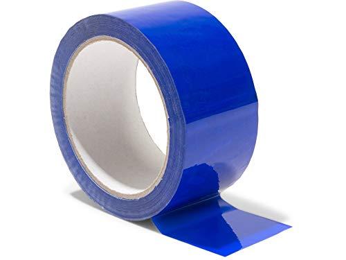 Modulor Verpackungsband, farbiges Klebeband aus Polypropylen, leise abrollendes Paketband mit Acrylatkleber, Breite 5 cm x Länge 66 m, 48 µm dick, dunkelblau